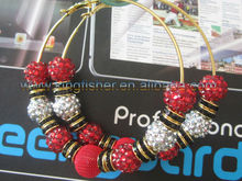Wow!! New Attractive Resin rhinestones Basketball Wives Earrings!! Fashion Poparazzi styles resin beaded Earrings!! Hot!! !!