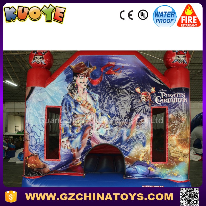 2017 bouncy castle prices pvc inflatable pirate captain bouncer