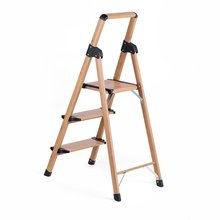 aluminium 3 Step Ladder Ladder with Wood grain Design Coordinates Well with Home Decorate Step Stool ladders aluminium folding