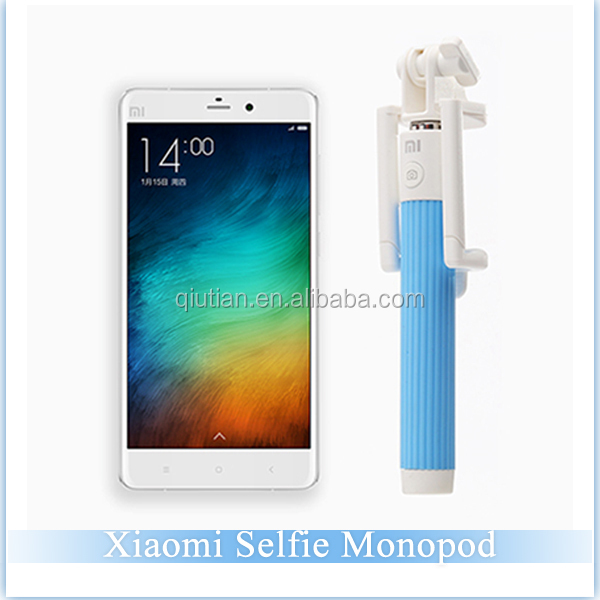 2015 Wholesale Xiaomi Selfie Stick With Bluetooth Shutter Button Selfie Stick For Xiaomi Mobile Phones