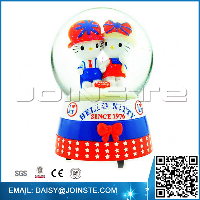 Kitty cat shaped wedding favors snow globe
