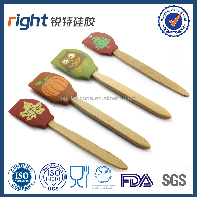 personalized solid silicone spatula with printed handle