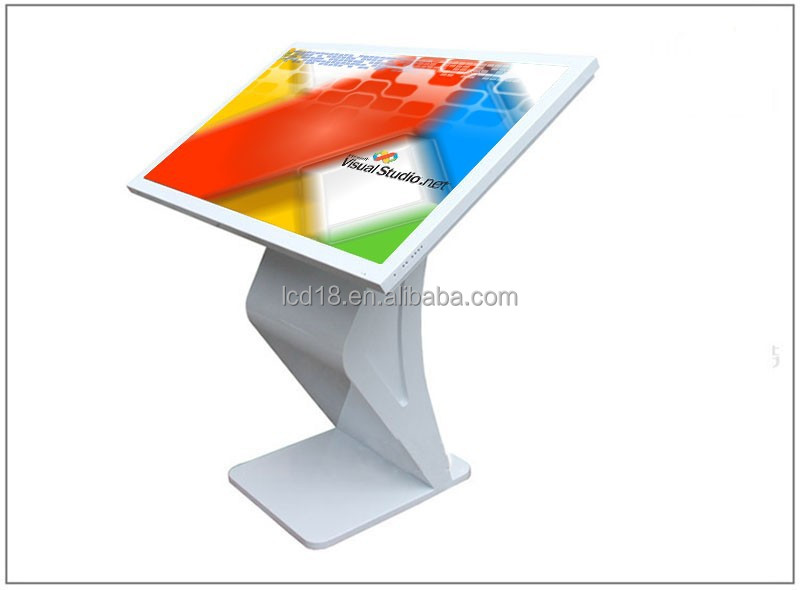 Network 17 inch stand lcd monitor, Digital Signage Advertising Table Touch Screen Kiosk