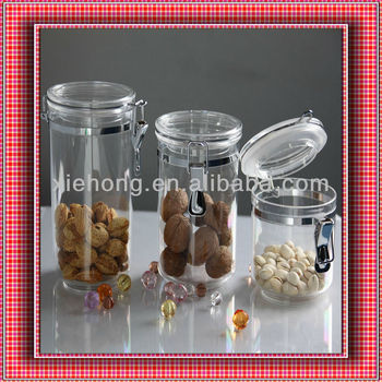 Acrylic plastic cylinder containerfor food,Acrylic plastic candy container
