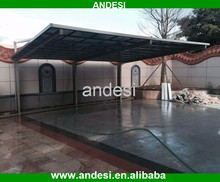 polycarbonate solid sheet cantilever carport