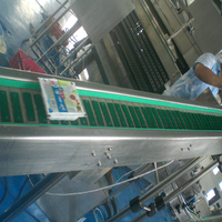 Friction slat chain conveyor system