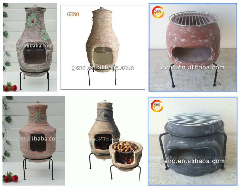 2014 Fashion Antique Outdoor Clay BBQ Grill, Energy-Saving Clay BBQ Grill