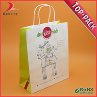 Shopping printing cheap unique paper bag