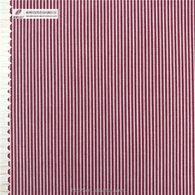 Cotton yarn dyed red white stripe fabric for Shirts