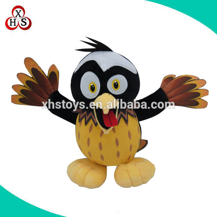 Wholesale custom Plush stuffed woodpecker toys/ animal toys birds