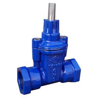 Double ends screw Resilient gate valve, straight F/F
