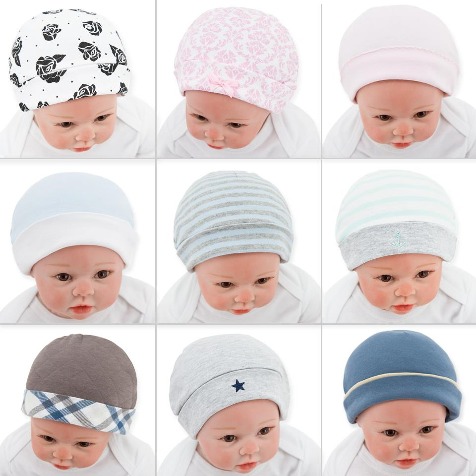 Factory Promotional Cute Newborn Infant Cotton Customized Knit Crochet Baby Hat