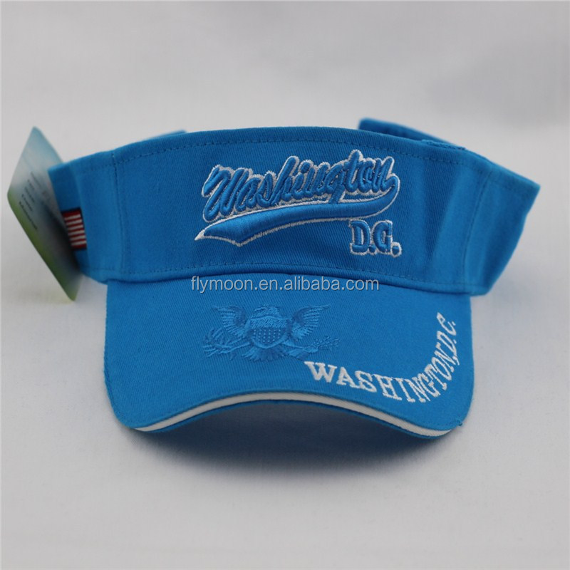 Different styles embroidery logo 3 panels sunshade visors/sun visor hats