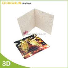 Lenticular promotion birthday greeting card
