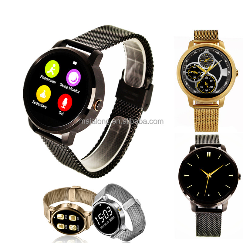 2016 New Products V360 Andriod Smart Watch with MTK2502 Round smart watch phone CE FCC ROHS BQB wrist watch bluetooth