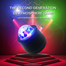 Six colors RGB Ball Lamp Stage Music Rhythm Sound decorative disco lamp for car with retail package