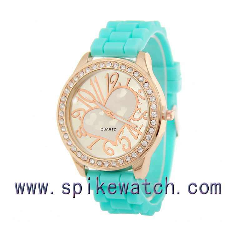 Top quality fashion fake diamonds ladies watch from China