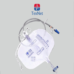 Disposable medical sterile Urine Bag for incontinence with pull push valve
