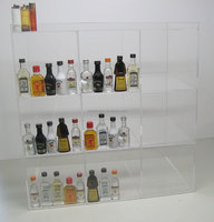 Acrylic Display for Small Sale Items Acrylic Display Case for Nips Commercial Display for Mini Sampler 50ml Liquor Bottles