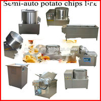 automatic small scale electric spiral potato chips maker