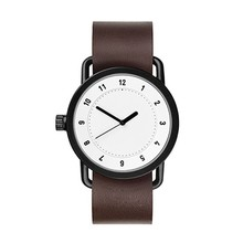 No name brand wholesale watches steel case with leather strap custom watch