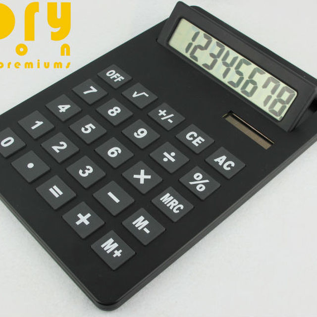 TILT LCD SCREEN 8 DIGITS JUMBO SOLAR CALCULATOR
