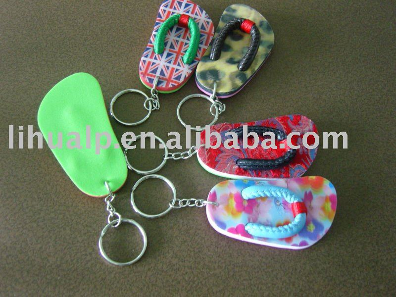mini EVA shoe keyring