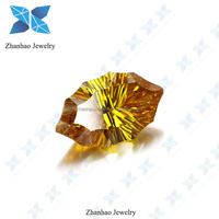 Golden Yellow Special shape Millenium cut CZ Gems