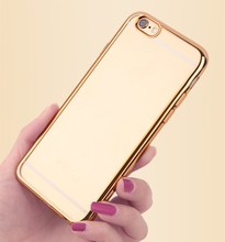 Soft TPU Case For iPhone 6s Plus 5.5 inch Transparent Plating TPU Cover Case For iPhone 6 Plus
