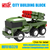 112Pcs Military Series Building Block car ABS block toy