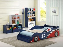 Cool Kids Race Car Bed, 190*90CM Mattress Wooden Kid Car Bed With High Quality