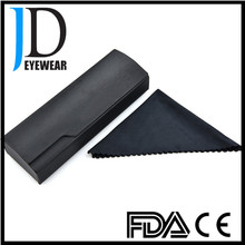 Handmade PU leather cases embossed logo sunglasses cases