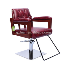 Beauty oem furniture popular red cheap dryer base massage stylist styling cutting hair salon chairs for sale