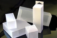 Custom small different shape of PET/PVC/PP transparent plastic folding boxes