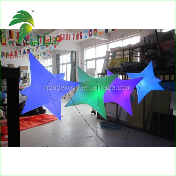 Attractive Inflatable LED Light Spiked Twinkle Star , Inflatable LED Light Star Shape For Party Decoration