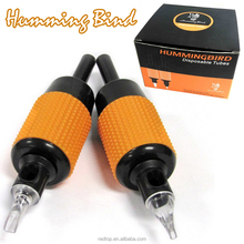 "Hummingbird 1"" Disposable Soft Plastic Grip Tattoo Tubes / 3 Round"