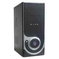 Hot sale vertical ATX Computer Case with dual 12CM LED fan 400W Power supply