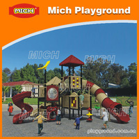 outdoor playgrounds equipment kids/children metal playground slide with rubber mats(2206A)