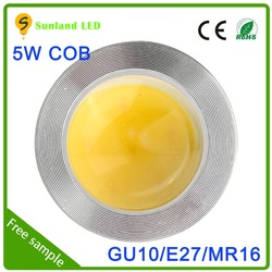 new products high lumen cob 5w led spotlight Epistar Chip led triac dimmable led driver 700ma