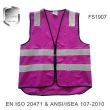 high visibility safety reflective wholesale purple clothing