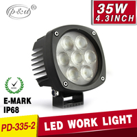 China supplier Best quality E-mark 5W chips led work light 12v round LED work light