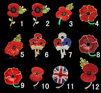 Poppy Brooch, Lapel Pint, Brooch Pins Jewelry Christmas Gift Wholesale 5110212