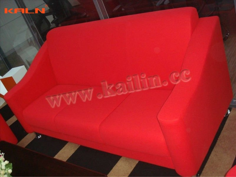 KL-S038 modern durable high quality factory direct sell genuine leather fabric set designs green certification office sofa