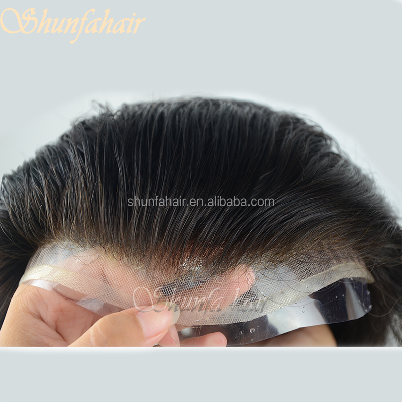 High quality toupee hair replacement hair black men lace front wigs
