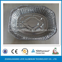 Household Hot Sale High Quality Large Size Octagon Aluminium Foil Container For Food