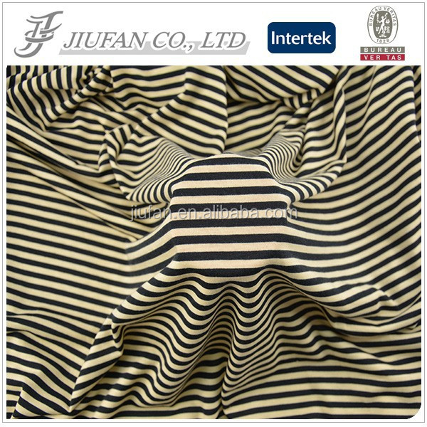 Jiufan Textile Single Jersey Printed Spun 96 Polyester 4 Spandex Knitting Fabric With Soft Handfeeling