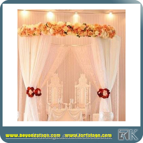 poles draping flower wall backdrop for event wedding decoration