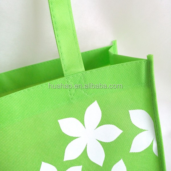 promotional china logo printed eco non woven shopping bag