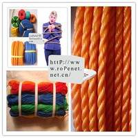 China cheap colorful PE 8mm rope for Malaysia and Indonesia Market
