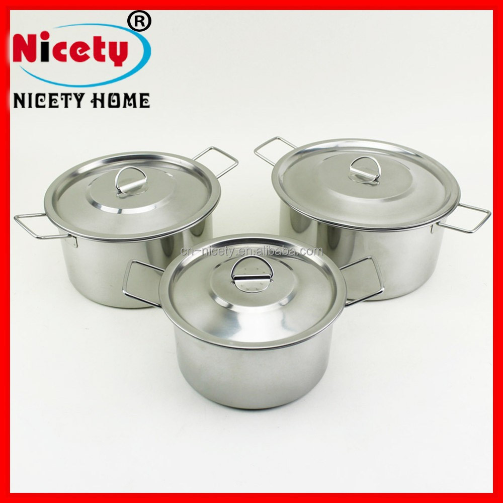 nicety stainless steel camping stock pot set /stainlesss steel cookware sets/Korean style cooking pot